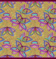 mosaic seamless pattern with butterflies vector image