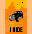 off road poster vector image