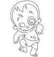 outlined zombie baby vector image