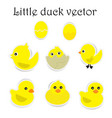 paper little duck on white background vector image vector image