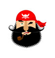 pirate winking emoji head filibuster gladl vector image