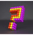 Question icon Web design element 3d vector image vector image