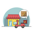 restaurant and delivery vector image vector image