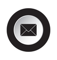 round black white button - mailing envelope icon vector image vector image