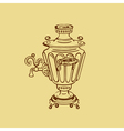 Samovar on a vector image