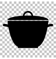 Saucepan simple sign Flat style black icon on vector image vector image