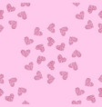 seamless pattern background with pink heart vector image vector image