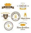 Set of vintage logo badgeemblem and logotype vector image