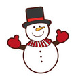 snowman comic character icon vector image