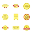 Tag quality icons set cartoon style vector image