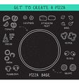 Template doodle set ingredients of chalk to create vector image vector image