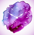 The watch dial on watercolor spot vector image