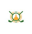 town golf logo icon design vector image