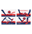 typographic football banners template set vector image