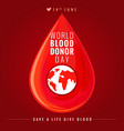 world blood donor day banner vector image vector image