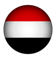 Yemen flag button vector image vector image