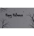 Flat backgrounds halloween dry tree vector image