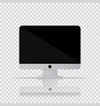 isolated desktop computer icon pc monitor icon in vector image