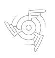 aviation emblem badge or logo vector image
