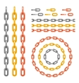 Metal chain pattern brush vector image