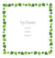 square ivy frame vector image