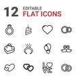 12 wedding icons vector image vector image