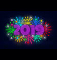 2019 happy new year poster vector image