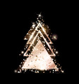 a geometric christmas tree rose gold glitter vector image vector image