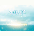 abstract colorful nature bokeh background vector image vector image