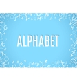 Abstract white alphabet ornament frame isolated on vector image vector image