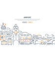 airport - modern line design style vector image vector image