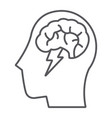 brainstorm thin line icon creative and idea vector image vector image