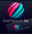 bright emblem for business technology corporate vector image
