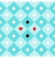 Card Suits Aqua Green Chess Board Diamond vector image vector image