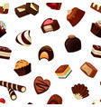 cartoon chocolate candies pattern or vector image vector image
