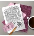 Cartoon doodles Nail salon corporate vector image vector image