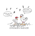 chicken cartoon vector image