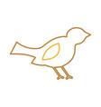 christmas bird animal decoration ornament vector image