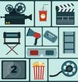 Cinema colorful icon set vector image