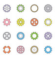 cog wheels and gears set vector image vector image