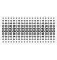 coin shape halftone grid vector image