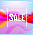 colorful flow poster with line sale poster vector image vector image