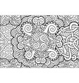 coloring book page with beautiful abstract pattern vector image vector image