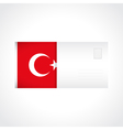 Envelope with Turkish flag card vector image vector image