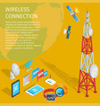 equipment of wireless connection high tower beep vector image vector image