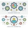 Flat line Business Consulting and Analytics vector image vector image
