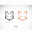 fox head design on a white background wild vector image vector image