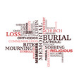 funeral or burial ceremony word cloud design vector image vector image