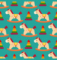 funny wood horse colors pony wallpaper vector image