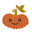 halloween pumpkin isolated on white background vector image
